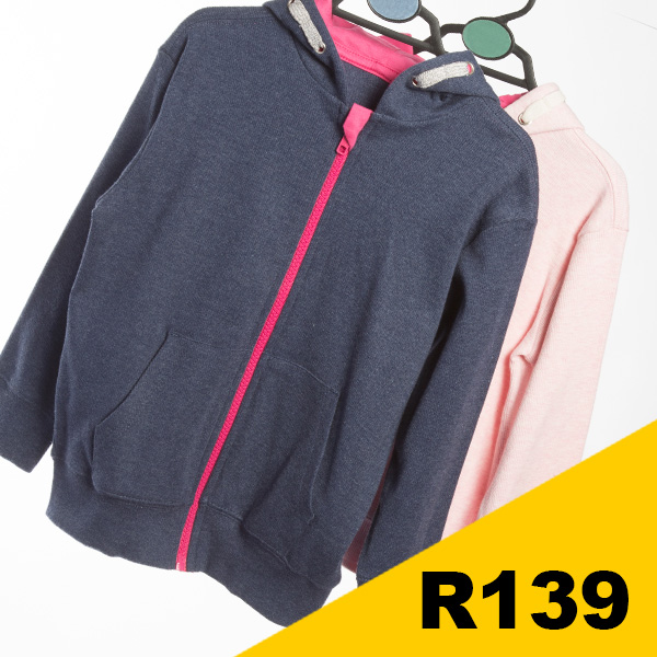Younger Girls - Assorted Zip through jackets