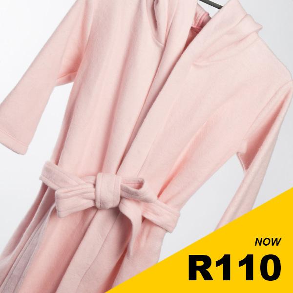 Infant Girls - Pink Fleece Gown