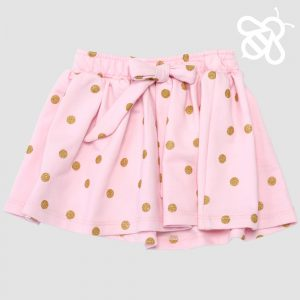 Pink/Gold Bow Skirt