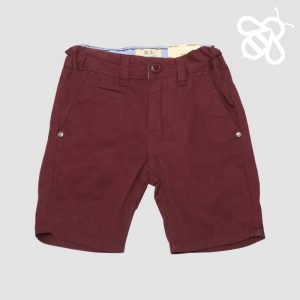 Burgundy Twill Shorts
