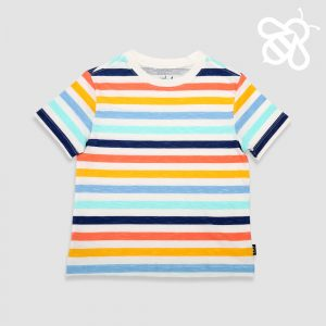 Orange/Yellow/Blue Multistripe Tee