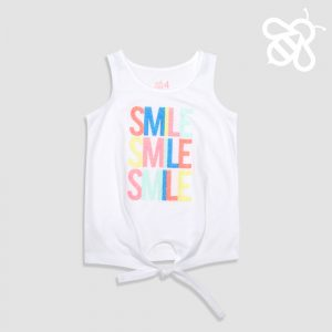 Smile Front Tie Top
